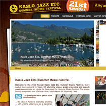 Kaslo Jazz Etc. Summer Music Festival